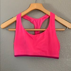 NWOT UNDER ARMOUR mesh athletic sports bra PINK